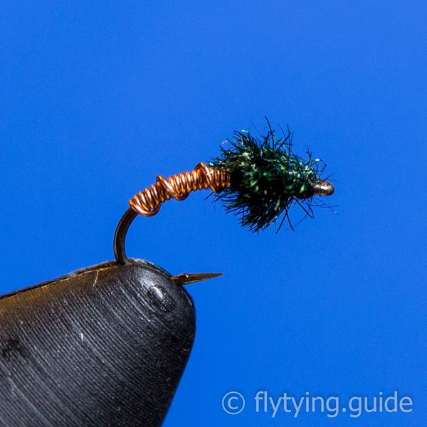 Brassie, Ribbed - Tying Instructions - Fly Tying Guide