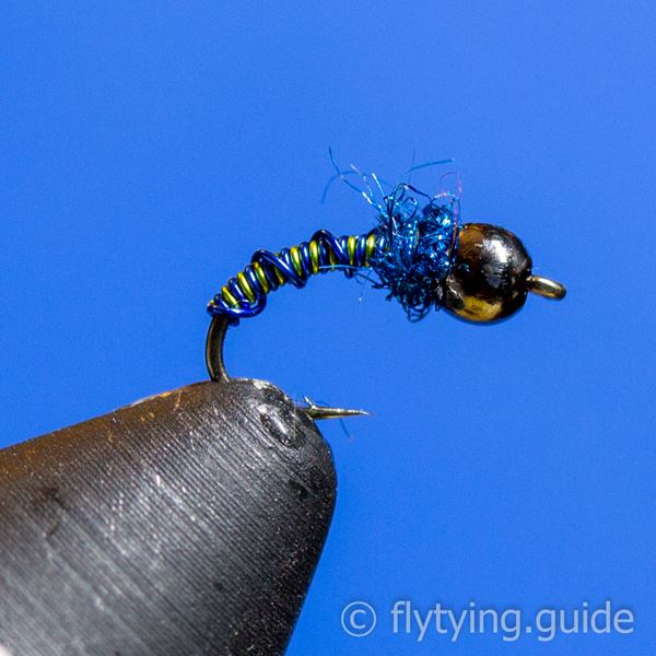 Brassie, Bead Head Two Toned Ribbed - Tying Instructions - Fly Tying Guide